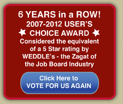 Weddle User Choice Award Five Years in a Row